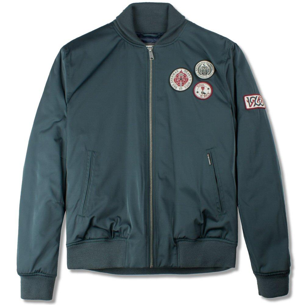 Ben Sherman Soul Badge Sateen Bomber Jacket Green