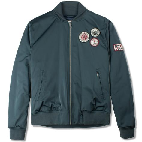 Ben Sherman Soul Badge Sateen Bomber Jacket Green Thumbnail 1