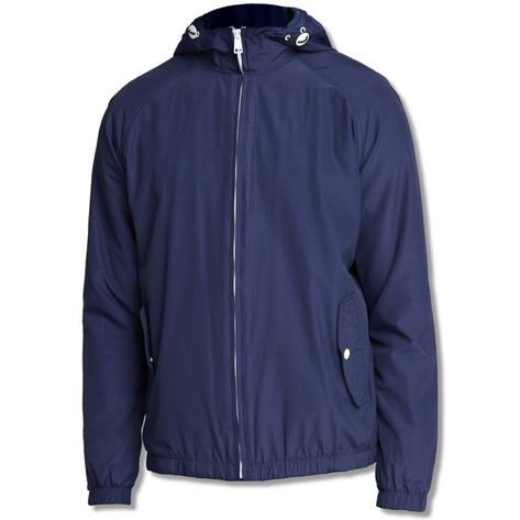 Ben Sherman Lightweight Zip Cagoule Windbreaker Navy Thumbnail 1