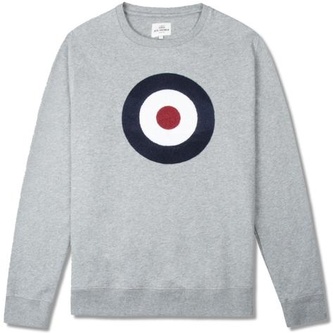 Ben Sherman Applique Target Crew Sweater Grey Thumbnail 1