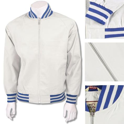 Real Hoxton London Mens Retro Tipped Monkey Jacket White Blue