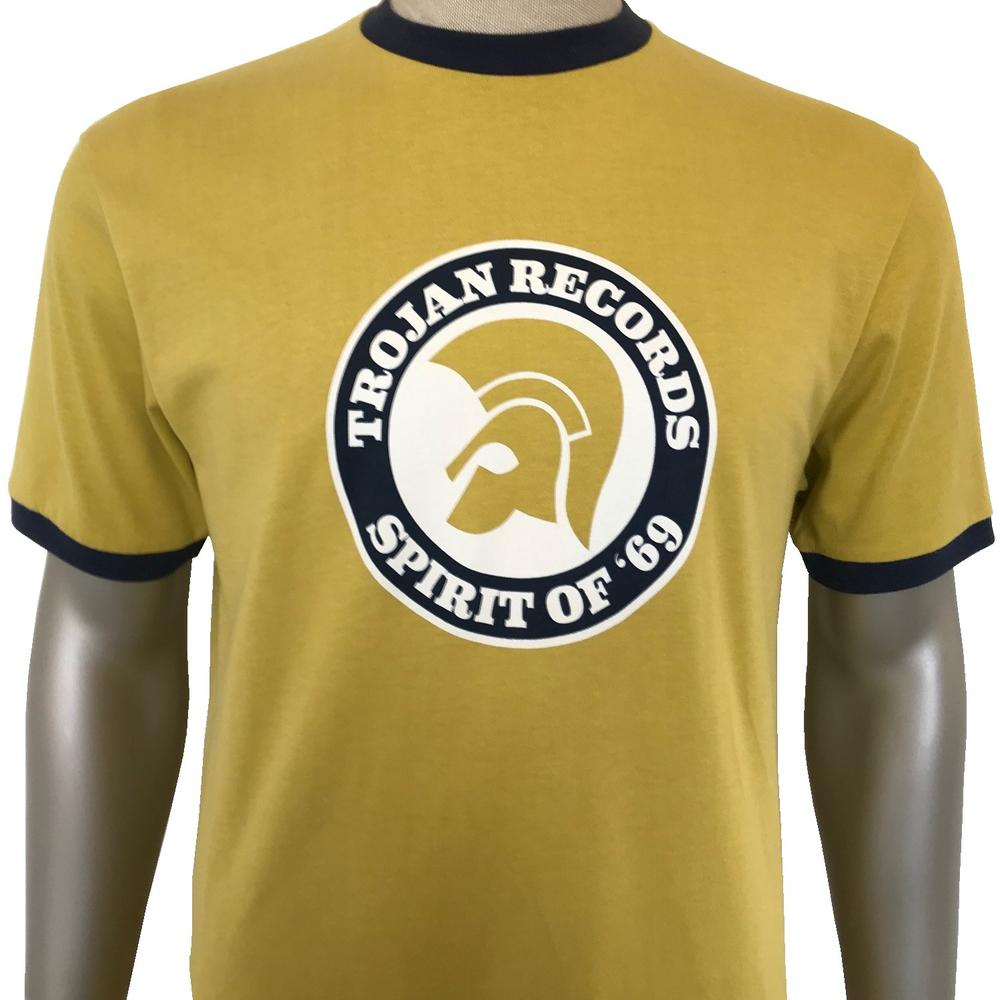 Trojan Records Spirit Of '69 Ringer T-Shirt Pistachio