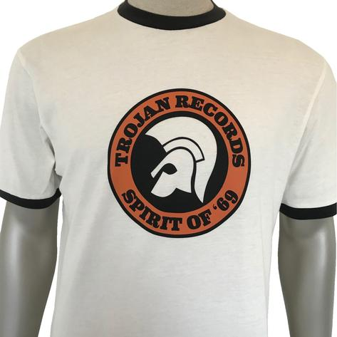 Trojan Records Spirit Of '69 Ringer T-Shirt Ecru Thumbnail 1