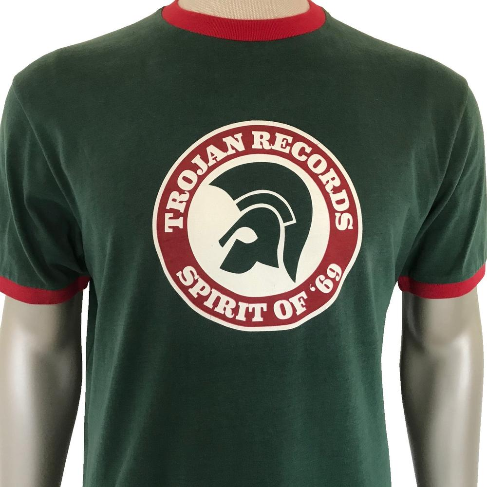 Trojan Records Spirit Of '69 Ringer T-Shirt Forest Green