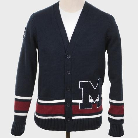 Art Gallery College Style Mumper Cardigan Navy Thumbnail 1