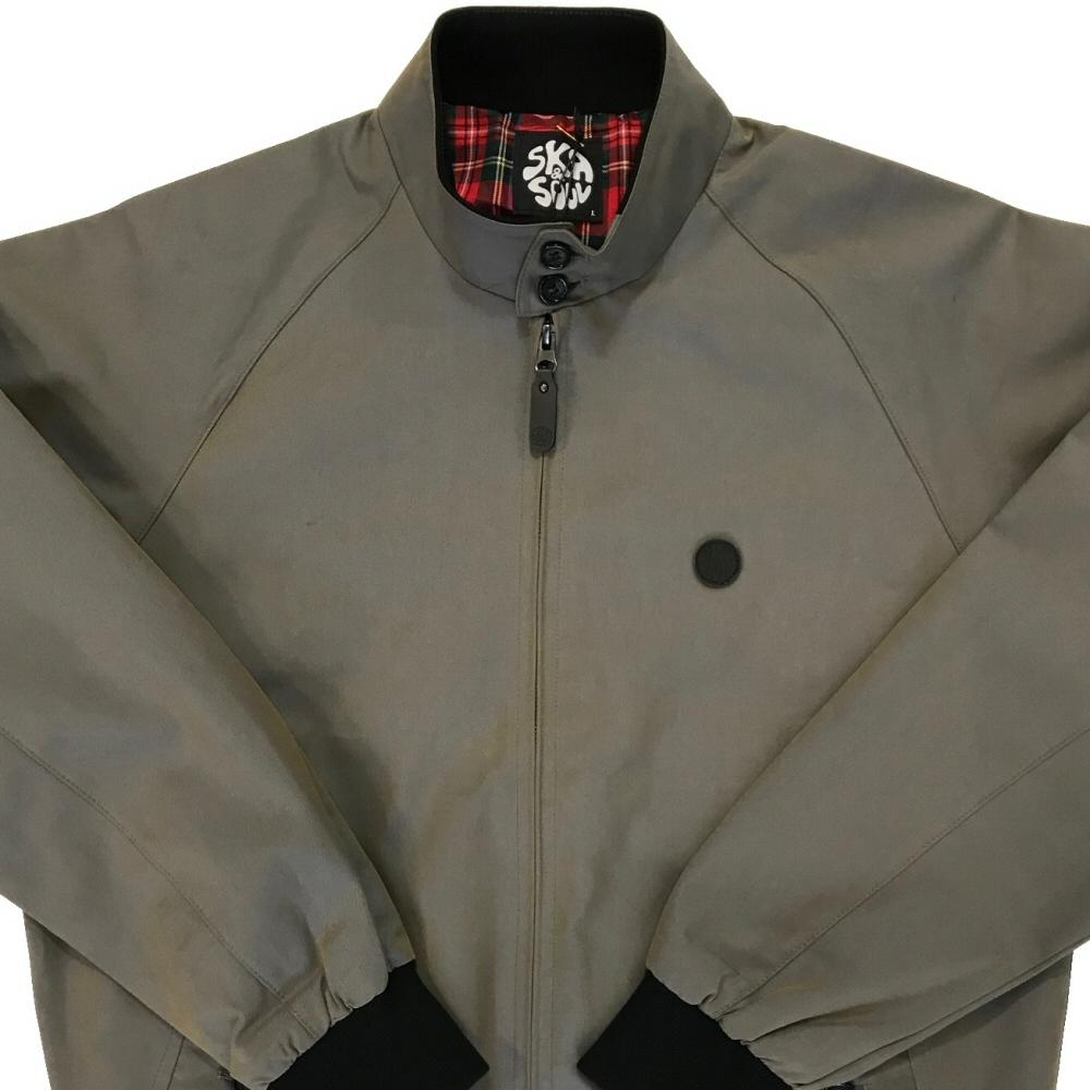 Ska & Soul Two Tone Tonic Harrington Jacket Grey