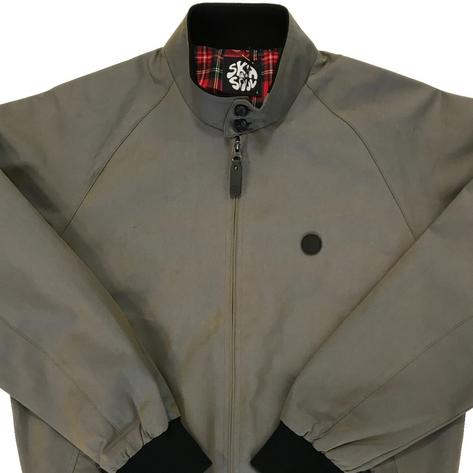 Ska & Soul Two Tone Tonic Harrington Jacket Grey Thumbnail 1
