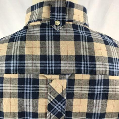 Trojan Records Mens Short Sleeve Tartan Check Shirt Stone Thumbnail 3