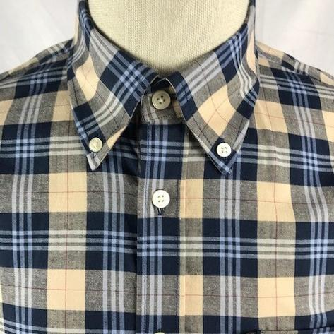 Trojan Records Mens Short Sleeve Tartan Check Shirt Stone Thumbnail 2