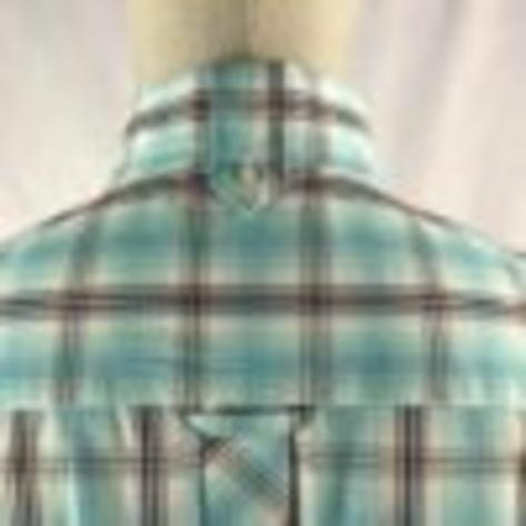 Trojan Records Mens Short Sleeve Over Check Shirt Mint Thumbnail 3