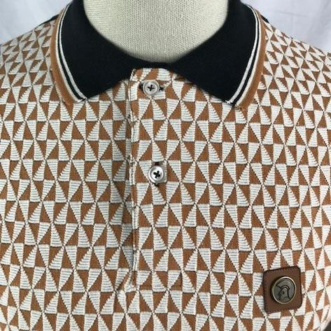 Trojan Records Diamond Panel Button Polo Black Thumbnail 2
