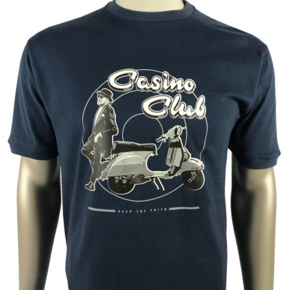 Ska & Soul Casino Club Keep The Faith T Shirt Navy