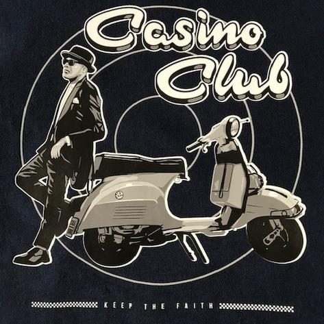 Ska & Soul Casino Club Keep The Faith T Shirt Navy Thumbnail 2