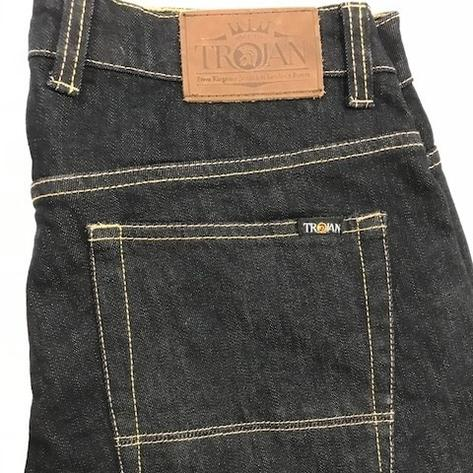 Trojan Records Zip Fly Blue/Black Denim Jeans Thumbnail 3