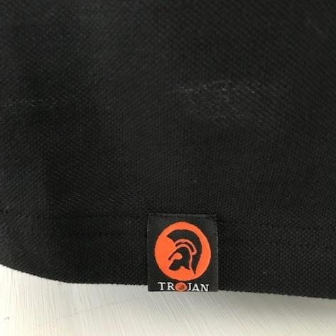 Trojan Records Mens Trojan Tri Tipped Polo Shirt Black Thumbnail 3