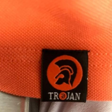 Trojan Records Mens Tri Tipped Polo Shirt Orange Thumbnail 3