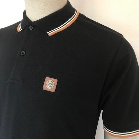 Trojan Records Mens Metal Badge Polo Shirt Black Thumbnail 2