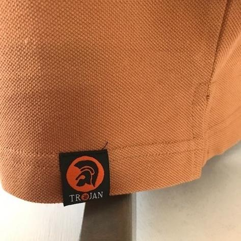 Trojan Records Mens Metal Badge Polo Shirt Tan Thumbnail 4