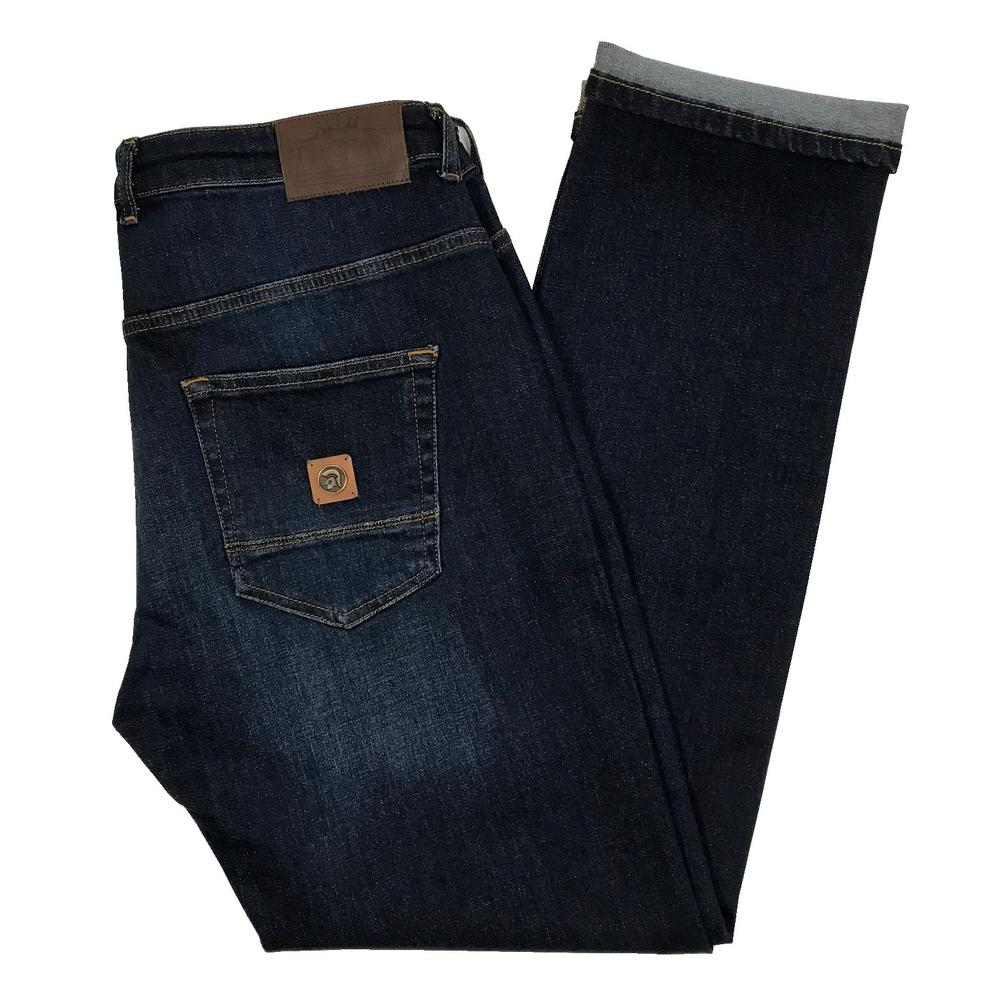 Trojan Records Zip Fly Dark Wash Denim Jeans