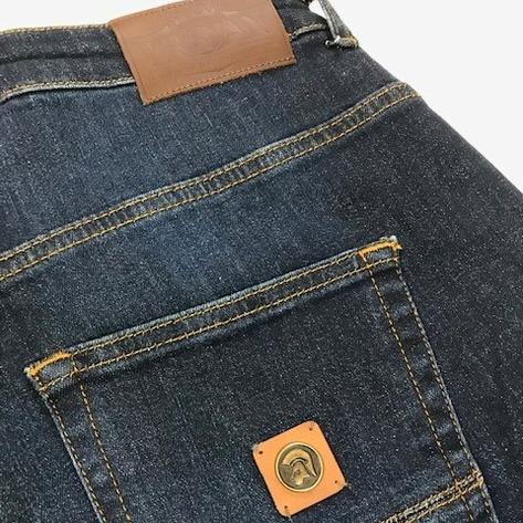 Trojan Records Zip Fly Dark Wash Denim Jeans Thumbnail 3
