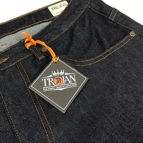 Trojan Records Zip Fly Blue / Black Denim Jeans Thumbnail 2