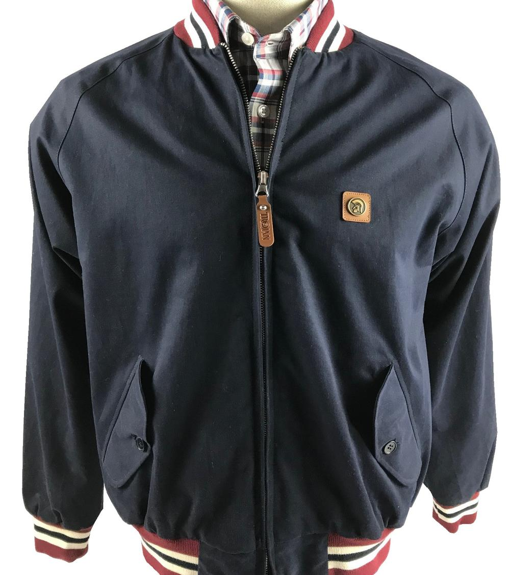 Trojan Records Elasticated Collar Monkey Jacket Navy