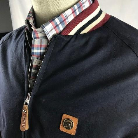 Trojan Records Elasticated Collar Monkey Jacket Navy Thumbnail 2