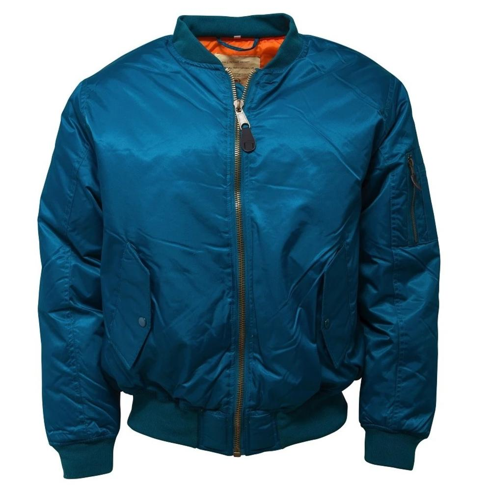 Relco MA-1 Flight Jacket Petrol Blue