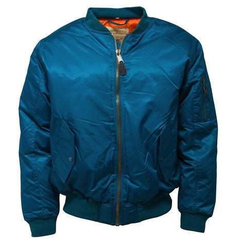 Relco MA-1 Flight Jacket Petrol Blue Thumbnail 1