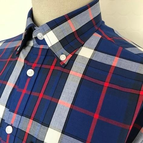 Trojan Records Short Sleeve Blue Check Shirt FREE Hanky Thumbnail 2