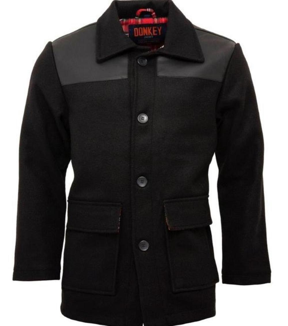 Relco Wool Mix Donkey Jacket Black