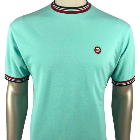 Trojan Records Mens Retro Multi Tipped Ringer T-Shirt Mint
