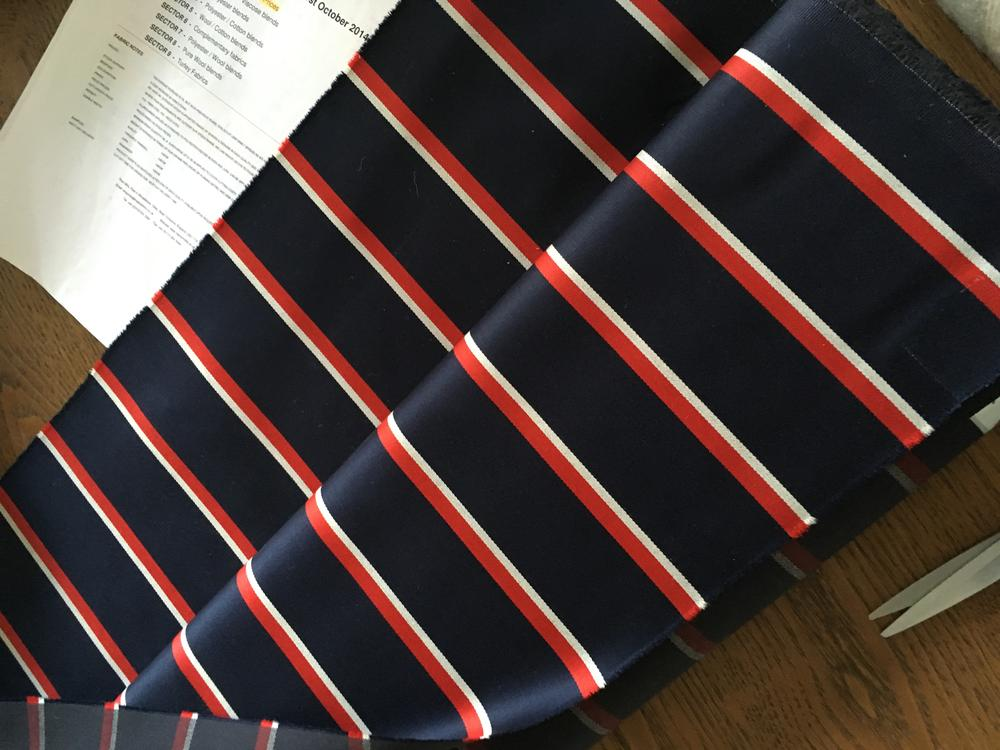 Roll Of Cloth for Boating Blazer Navy /Red/White