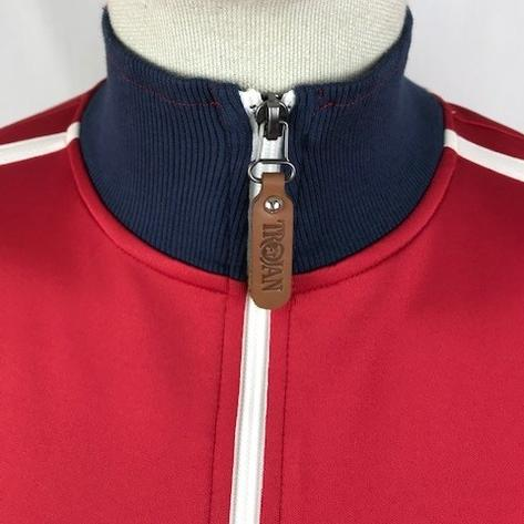 Trojan Records Contrast Panel Tricot Track Top Union Red Thumbnail 3