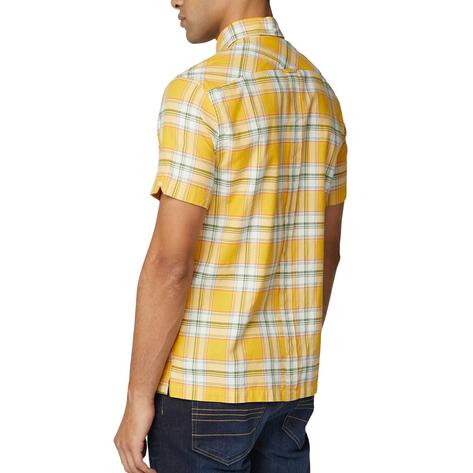 Ben Sherman Archive Retro Big Check Short Sleeve Shirt Yellow Thumbnail 3