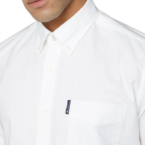 Ben Sherman Classic Oxford Button Down Short Sleeve Shirt White Thumbnail 2