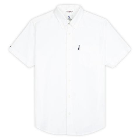 Ben Sherman Classic Oxford Button Down Short Sleeve Shirt White Thumbnail 1
