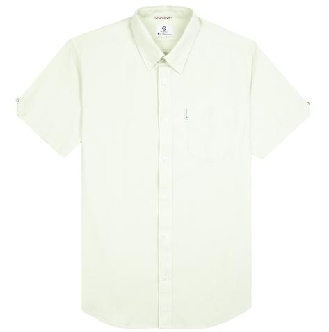 Ben Sherman Classic Oxford Button Down Short Sleeve Shirt Pale Green Thumbnail 1