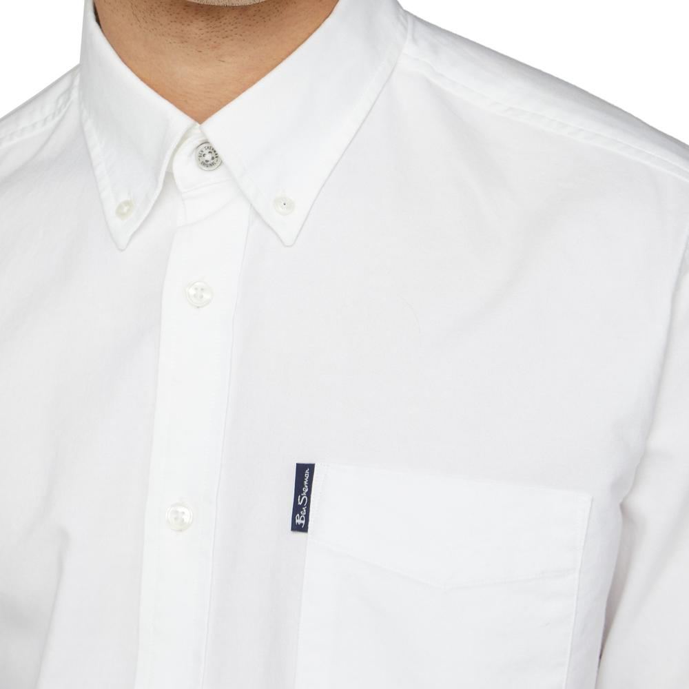 Ben Sherman Classic Oxford Button Down Long Sleeve Shirt White