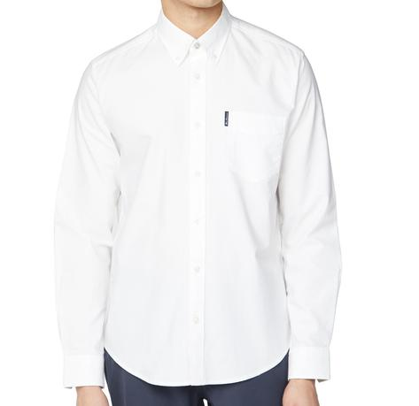 Ben Sherman Classic Oxford Button Down Long Sleeve Shirt White Thumbnail 2
