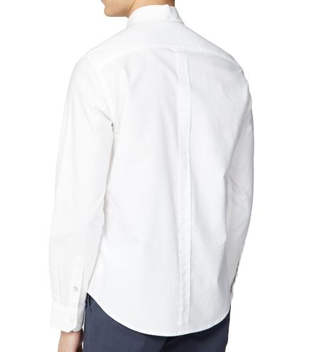 Ben Sherman Classic Oxford Button Down Long Sleeve Shirt White Thumbnail 3
