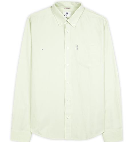 Ben Sherman Classic Oxford Button Down Long Sleeve Shirt Pale Green Thumbnail 2