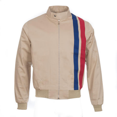 Real Hoxton Retro Rally Jacket Stone Thumbnail 2
