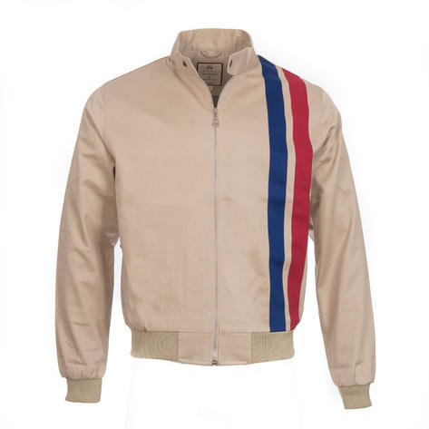 Real Hoxton Retro Rally Jacket Stone Thumbnail 1