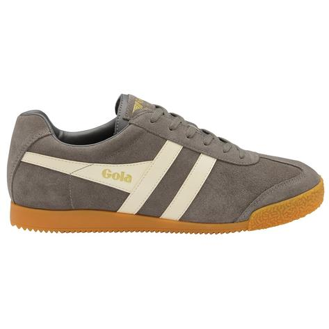 Gola Harrier Classic Twin Stripe Suede Mens Trainer Ash / Ecru Thumbnail 1