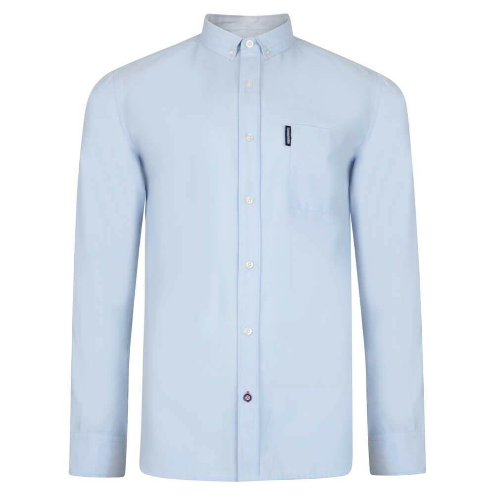 Lambretta Long Sleeve Pure Cotton Oxford Shirt Sky Blue