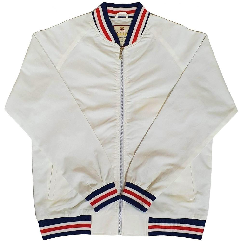 Real Hoxton London Mens Retro Tipped Monkey Jacket White RWB