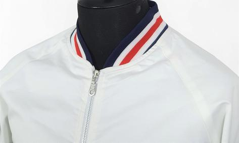 Real Hoxton London Mens Retro Tipped Monkey Jacket White RWB Thumbnail 3