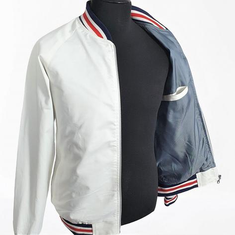 Real Hoxton London Mens Retro Tipped Monkey Jacket White RWB Thumbnail 4