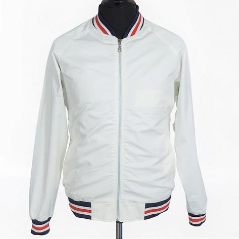 Real Hoxton London Mens Retro Tipped Monkey Jacket White RWB Thumbnail 2